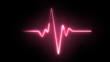 Heartbeat Laser Neon Effect.