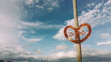 Close-up Of Rusty Heart Shape ...