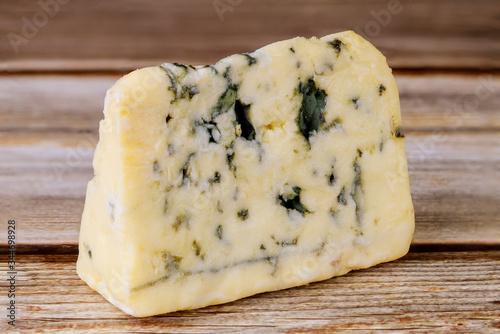 Aging blue stilton England cheese.