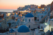 Classical Whitewashed Church And Houses By Sea