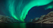 Low Angle View Of Aurora Borea...