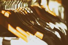 Detail Shot Of Coat Hangers
