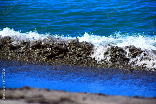 Playa arena negra Saint Maarten Canvas Print