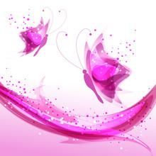 Delicate Pink Butterflies