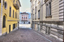 Corridor Between The Buildings...