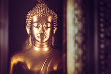 The Golden Statue Of Buddha At...