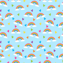 Rainbow Colors Seamless Patter...