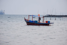 Many Fishing Boats Going To Fish