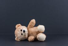 Teddy Bear And Black Background