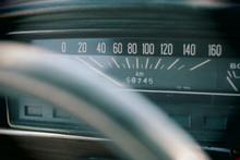Speedometer Of A Vintage Car. ...