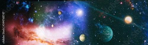 Fototapeta Panorama beautiful science fiction wallpaper