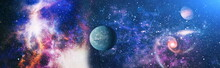 Panorama Beautiful Science Fiction Wallpaper. Elements Of This Image Furnished By NASA