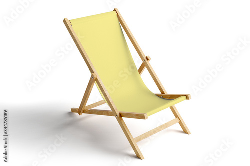 Canvas-taulu beach chair isolated on white