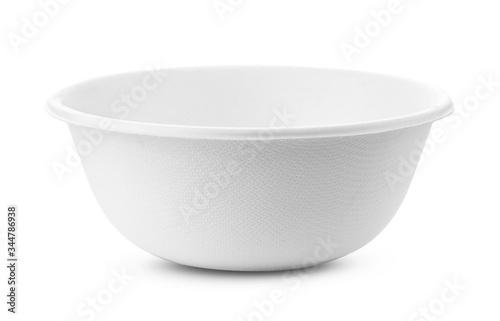Fototapeta empty bowl on white background obraz