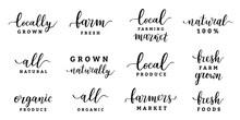 Farmers Market Lettering Logo ...
