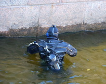 Diver In The River At The Gran...