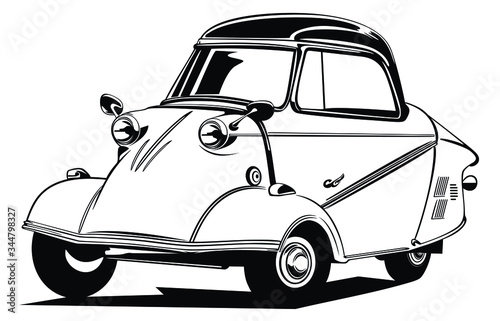 Classic vintage retro car image