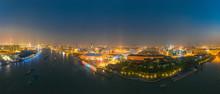 Night View Of The City Around ...