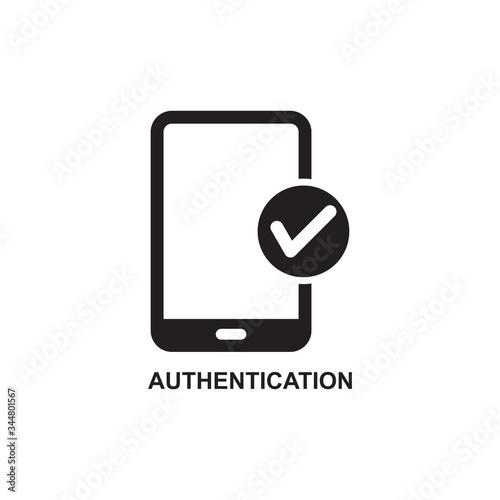 AUTHENTICATION ICON , ACCESS DATA ICON Canvas Print