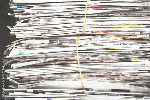 Pile of newspaper, background texture Canvas Print