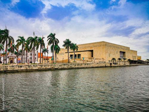 CARTAGENA, COLOMBIA - NOVEMBER 12, 2019:View of the Julio Cesar Turbay Ayala Cartagena de Indias Convention Center Canvas-taulu