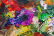 color contrast background of oil paints