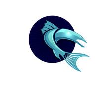 Fish Baracuda Logo Design Vect...