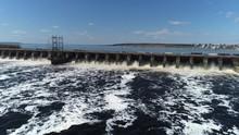 Of Water Flow Of Dam Reservoir...