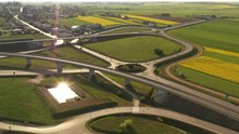 Aerial View - Fly Over Roads I...