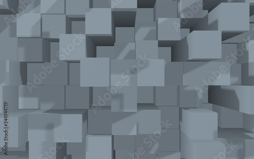 Photo Abstract gray elegant cube geometric background