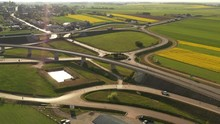Aerial View - Roads In The Fie...