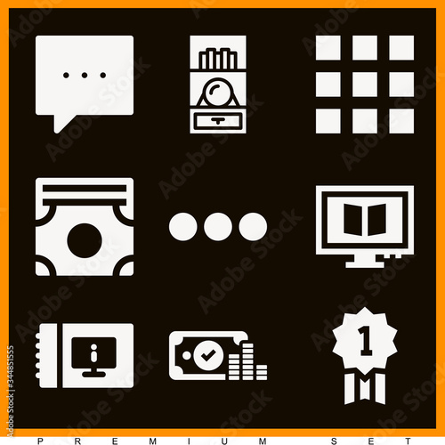 Photo Set of 9 allusion filled icons