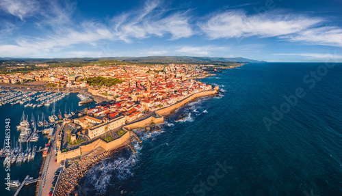 View from flying drone Fototapet