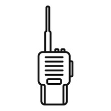 Walkie Talkie Icon. Outline Wa...