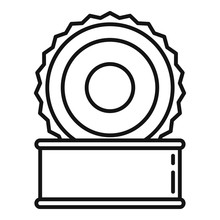 Open Tin Can Icon. Outline Ope...