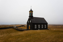 Typical Icelandic Church On Th...