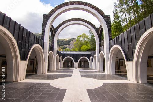 Basilica Sanctuary of Meritxell, located in the parish of Canillo, Andorra Canvas Print