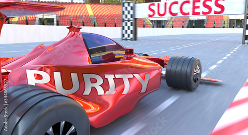 Photo Purity and success - pictured as word Purity and a f1 car, to symbolize that Pur
