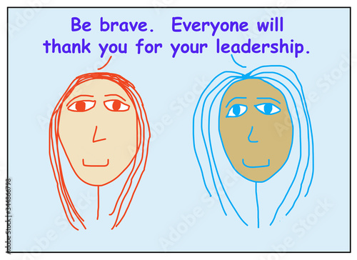 Photo Be brave thank you leader