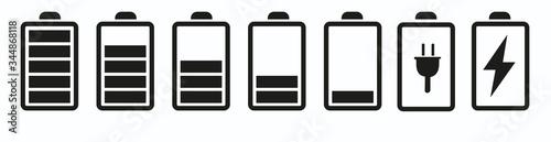 Foto Battery icon set