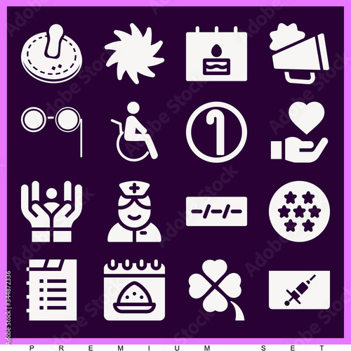 Photo Set of 16 ambivalent filled icons