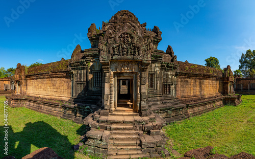 Banteay Samre temple Khmer temple at Angkor Thom is popular tourist attraction, Canvas Print