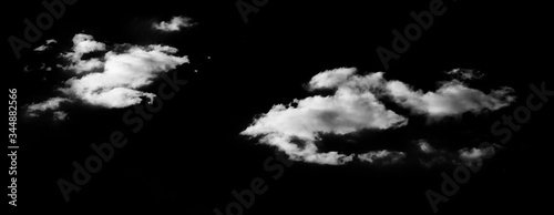Photo Clouds On black background