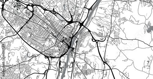 Fotografie, Obraz Urban vector city map of Albany, USA. New York state capital