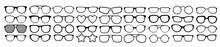 Many Types Of Glasses. Fashion...