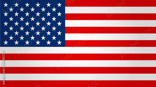 United states flag. Vector illustration. Poster Mural XXL