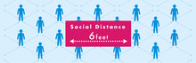 Social Distancing Set Of Icons