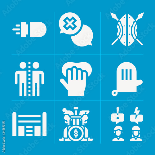 Filled ambivalence 9 vector icons set Wallpaper Mural