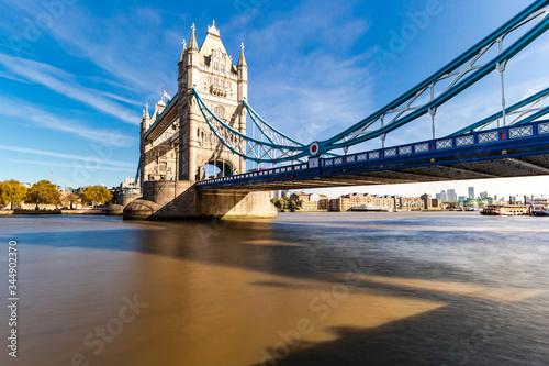 Tower Bridge in London, UK, United Kingdom. Canvas Print