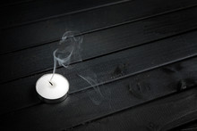 Smoke From A Extinguished Cand...